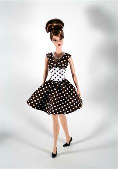Barbie Clothes Brown & White Dress von ChicBarbieDesigns auf Etsy