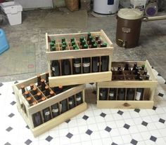 A Trio of Beer Crates - by KnotCurser @ LumberJocks.com ~ woodworking community