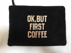 A personal favorite from my Etsy shop https://www.etsy.com/listing/294983061/black-suede-pouch-with-swarovski