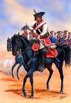 Prussian Schlabrendorf Cuirassiers, Seven Years War