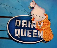 Ideas Dairy Queen Vintage Neon Signs For 2019 Vintage Advertisements, Vintage Ads, Retro Advertising, Advertising Signs, Vintage Neon Signs, Identity, Dairy Queen, Texas, Old Signs