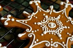 Iced Gingerbread Molasses Snowflake Cookies