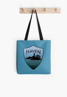 Haven Syfy Inspired Tote Bag |  Haven Keep Calm Blue Badge Logo