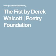 derek walcott selected poems pdf