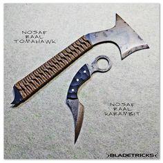 Bladetricks EDC Nosaf Raal Tomahawk & Karambit