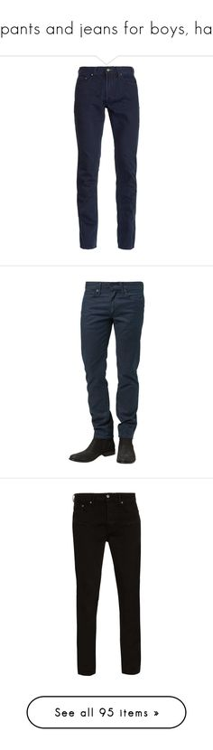 """""""pants and jeans for boys, ha"""" by indahouseagain ❤ liked on Polyvore featuring men's fashion, men's clothing, men's jeans, jeans, blue, mens vintage jeans, topman mens jeans, mens blue jeans, mens slim cut jeans and mens slim jeans"""