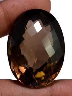 135ct VS Quality Big Natural Oval Cut Smokey Quartz Loose Gemstone For Pendant #krishnagemsnjewels