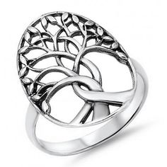 Large 925 Sterling Silver Tree of Life Ring. This gorgeous ring was cast from solid stamped nickle free 925 Sterling Silver. The Tree of Life signifies Families and Spiritual Growth. Tree Of Life Ring, Tree Of Life Jewelry, Dreamland Jewelry, Discount Jewelry, Sterling Silver Jewelry, Gold Jewelry, Silver Earrings, Diamond Jewelry, 925 Silver