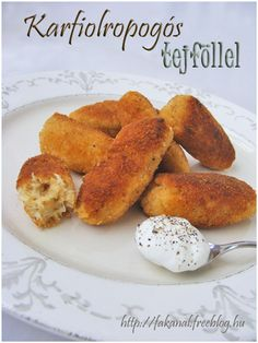 .: Karfiol ropogós Cauliflower Vegetable, Hungarian Recipes, Hungarian Food, Recipes From Heaven, Vegetarian Recipes, Food Porn, Food And Drink, Veggies, Favorite Recipes