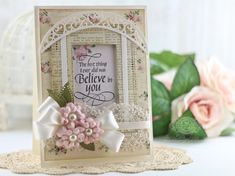 Uplifting Cards by Becca Feeken using Spellbinders Hemstitch Rectangles, Lunette Arched Borders and Cinch and Go Flowers II - see full supply list at www.amazingpapergrace.com/?p=33618