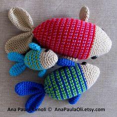 Ravelry: Amigurumi Fish X3! pattern by Ana Paula Rimoli