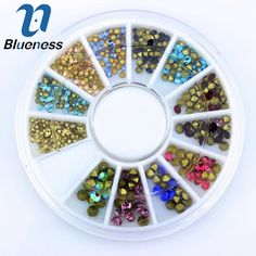 Blueess 12 Color Mixed Charms 3D Nail Art