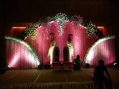 One of the best advantages of hiring wedding plann Indian Wedding Stage, Wedding Stage Backdrop, Wedding Stage Design, Wedding Hall Decorations, Marriage Decoration, Wedding Entrance, Wedding Mandap, Backdrop Decorations, Flower Decorations
