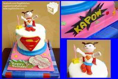 Supergirl Cake for Samantha Isabelle