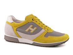 Hogan trainers for men in Medium Yellow suede leather - Italian Boutique €193