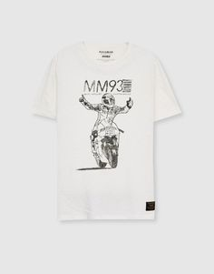 Short-sleeved T-shirt with graphic (Marc Márquez Collection) - T-shirts - Clothing - Man - PULL&BEAR Albania