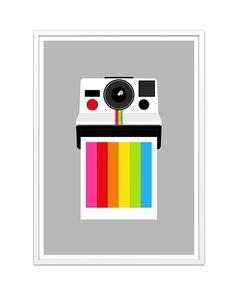 Rainbow polaroid --- what beautiful graphic design. :D