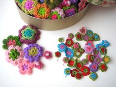 Ganchillo de flores by fperezajates, via Flickr