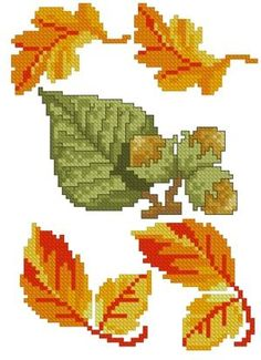 Advanced Embroidery Designs - Autumn Leaves Set