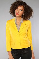Bright blazers are my summer essential.