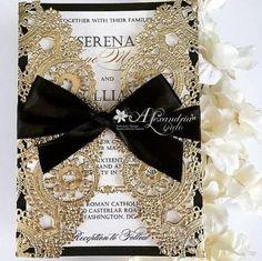 54 Black, White And Gold Wedding Ideas   HappyWedd.com