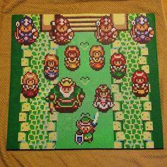 Legend of Zelda perler bead scene by perler_man43