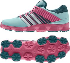 adidas Performance Girls Hockey Junior Lace Up Sports Trainers Shoes Pink