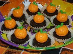 Calabacitas de mazapán en Halloween