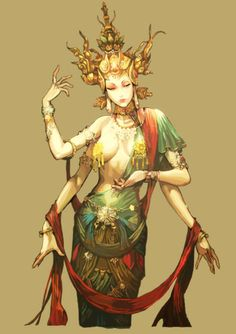"""A representation of """"Avalokiteśvara (Lord who looks down), a Bodhisattva who embodies the compassion of all Buddhas. Portrayed in different cultures as either male or female, Avalokiteśvara is one of the more widely revered bodhisattvas in mainstream Mahayana Buddhism, as well as unofficially in Theravada Buddhism."""""""