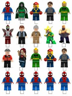 20 X LEGO SUPERHERO SPIDERMAN STAND UP EDIBLE WAFER TOPPERS CUPCAKE CAKE