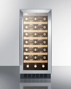 15' wide wine cellar for built-in or freestanding use, with digital controls and LED light; replaces SUMMIT SWC1530
