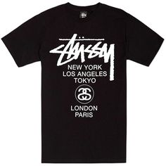 9ab8a58c Stüssy Stussy World Tour Tee ($47) ❤ liked on Polyvore featuring men's  fashion,