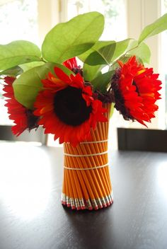 Teacher Appreciation, loving the pencil vase!