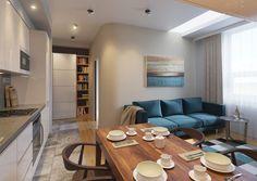 Современный дизайн квартиры 38 кв. м.
