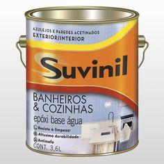 Esmalte Banheiros Cozinhas Epóxi Base Água Suvinil 3,6 Litros Branco - CasaShow
