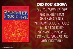 Slaughterhouse-Five is one of the best Slaughterhouse Five, Book Authors, Books, Oakland County, Kurt Vonnegut, Public School, Book Quotes, Book Worms, Did You Know