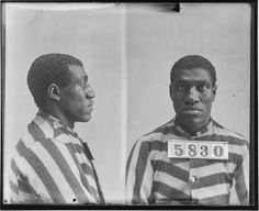 Photograph of William Carter, No. 5830, Records of the Virginia Penitentiary, Series II. Prisoner Records, Subseries B. Photographs and Negatives, Box 63, Accession 41558, State Records Collection, Library of Virginia.