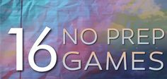 Need a quick and easy game? We've got you covered with 16 No Prep Games! #stumin #noprepgames