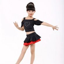 Latin dance clothes female child nagle Latin dance costume female child dance dress short-sleeve leotard with safety pants //FREE Shipping Worldwide //