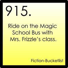 My Fiction Bucket List my-fiction-bucket-list... LOL I found this and started laughing historically. If you go to CASA you know why. ;)