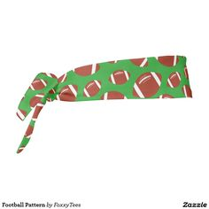 Football Pattern Headband With A Customizable Background Color at Zazzle  #Football #Footballs #Pattern #HairAccessory #Hairband #HairAccessories