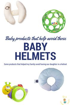 Here are some products that helped us correct the flat head my baby was developing. Read more to see what we did to avoid a baby helmet!