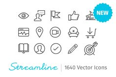 Check out Streamline Icons - 1640 Icons by webalys $69