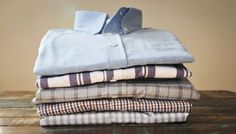 Ole Mason Jar's button-down shirts from new local menswear line Colsen Keane are hand-sewn.