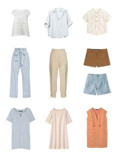 Летний гардероб - Льняные топы, платья, брюки и шорты Summer wardrobe - linen tops, dresses pans and shorts www.wearnissage.com  #style #capsulewardrobe #minimalism #basics #outfits #капсульныйгардероб #стиль #минимализм
