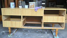 I found this retro cabinet looking a tad worse for wear with a couple of the drawers simply falling apart as we unloaded from the trailer. Chalk Paint, Drawers, French, Cabinet, Retro, Storage, Furniture, Vintage, Home Decor