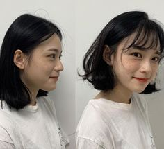 These are the hottest Korean bangs in 2019 TOP BEAUTY LIFESTYLES : See the before and after with Korean long side bangs? They are absolutely life saver to round faces koreanhairstyle koreanwomen koreanfashion hairstyleforroundfaces hairstylewithbangs cut Short Hair Styles For Round Faces, Hairstyles For Round Faces, Short Bob Hairstyles, Hairstyles With Bangs, Short Hair Cuts, Medium Hair Styles, Curly Hair Styles, Edgy Short Haircuts, Korean Short Hair Bob