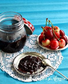 Gem de cirese cu aroma de  menta Chocolate Fondue, Conservation, Smoothie, Sweets, Canning, Desserts, Pie, Gardening, Mint