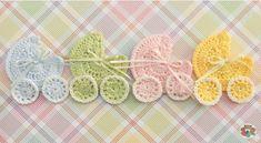 Este transporte favor crochet babyshower faria uma bela decoração para qualquer cobertor do bebê ou cesta do presente. Os apliques...