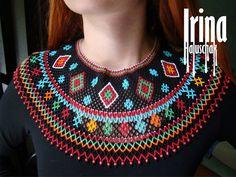 Collar tradicional ucraniano. Collar de cuentas. por IrinaHaluschak